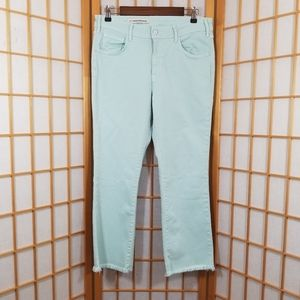 Anthropologie Pilcro Cropped Mint Jeans